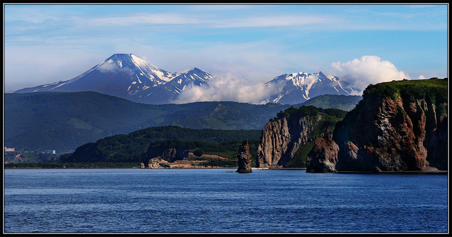 Volcanoes of Kamchatka | Kamchatka, volcano, sea, cliff