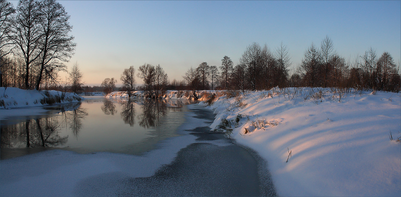 Frosen river | frosen river, snow, winter, trees