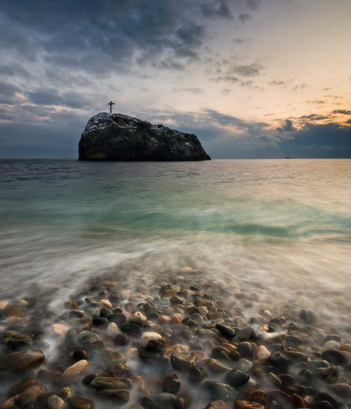 Cape Fiolent. Crimea | evening, sea