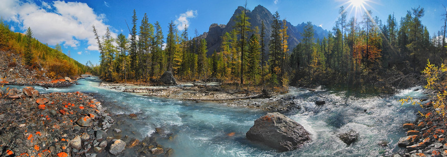 Altai's wonders | Altain, mountain river, rocks, wood