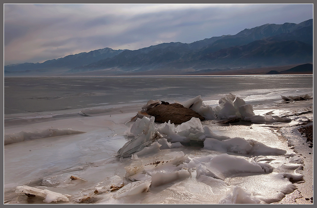 Icy shore | icy shore, beach, sea, mountain