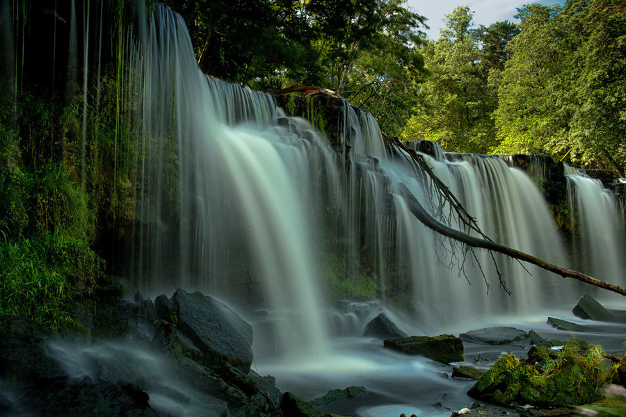 Waterfall in the forest | waterfall, forest, wood, summer