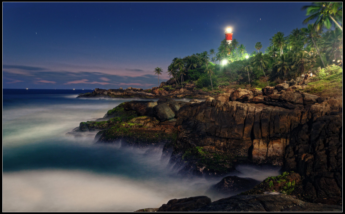 Lighthouse on the hill | lighthouse, hill, abrupt coast, haze