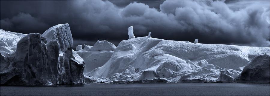 Greenland | black and white, greenland, ice, ice cellar