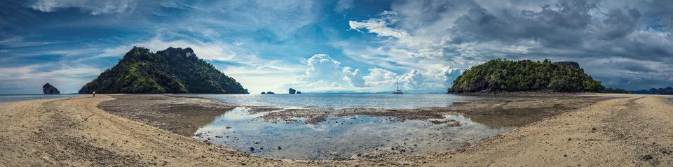 Thailand, Krabi Chicken Island | Thailand, Krabi Chicken Island, landscape, nature, sky, clouds, skyline, water, sand, island