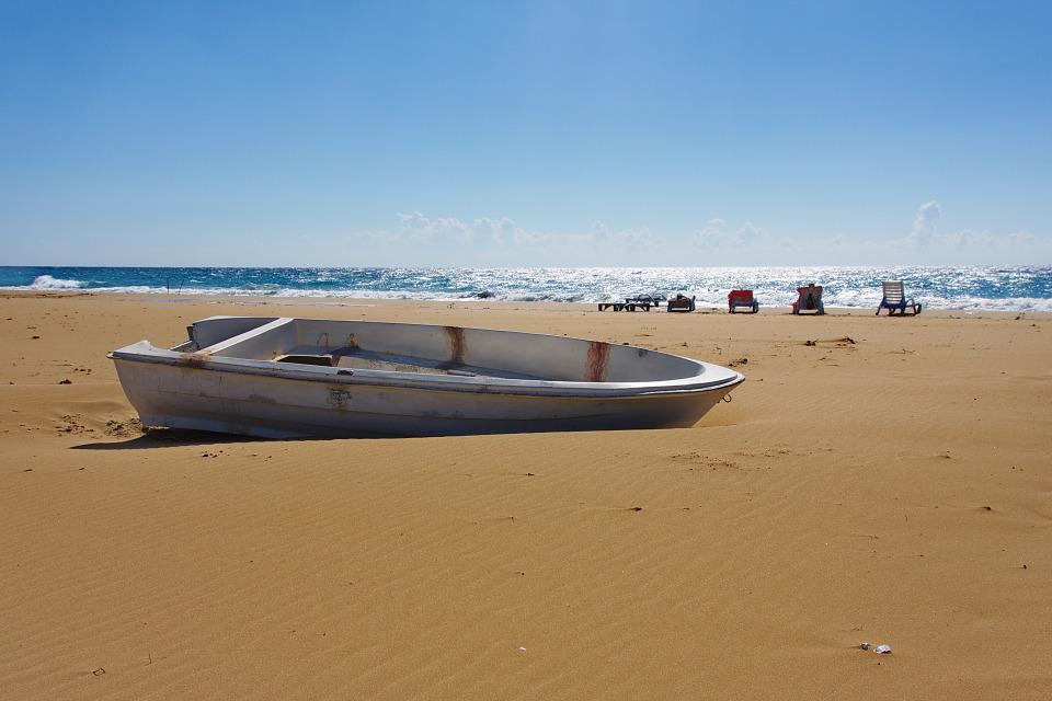 on shore | boat, sand, sea