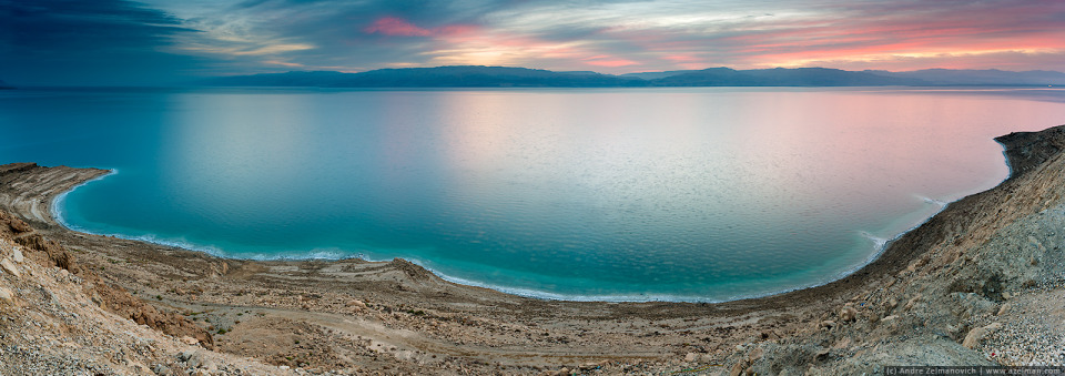 Dusk abore the dead sea | dead sea, dusk, desert, sand