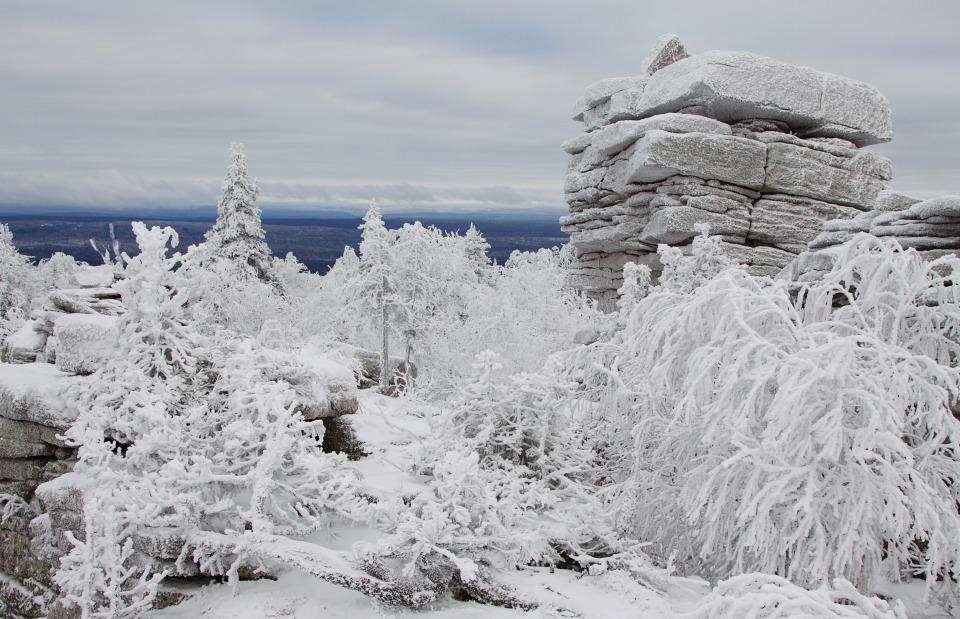Stone of Kolchimsk | stone, frost, snow, winter