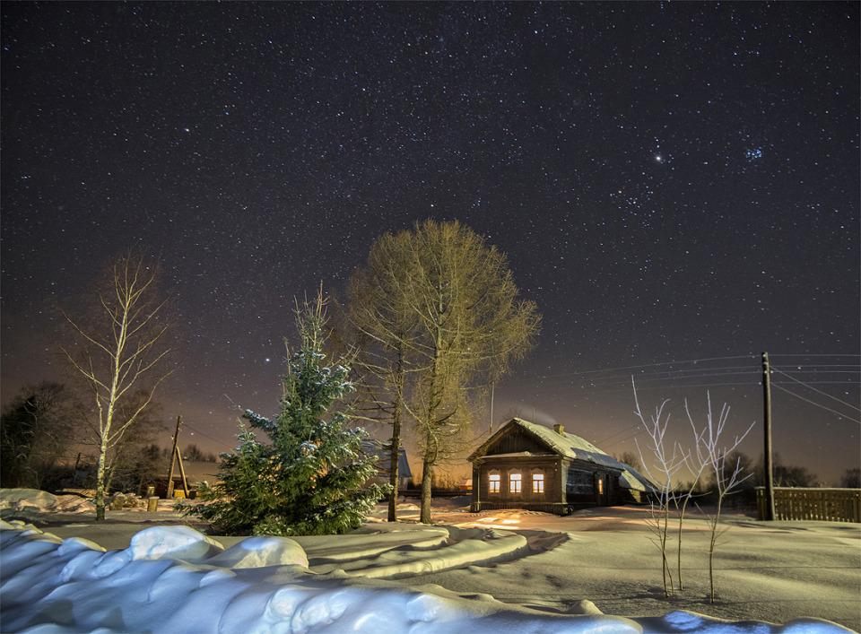 New-year fairytale   new year, fairytale, village, winter