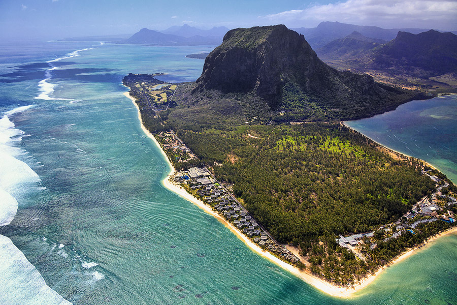Peninsula Le Morne Brabant  | landscape, nature, peninsula, Le Morne Brabant , Indian Ocean, water, green, houses, beach, day