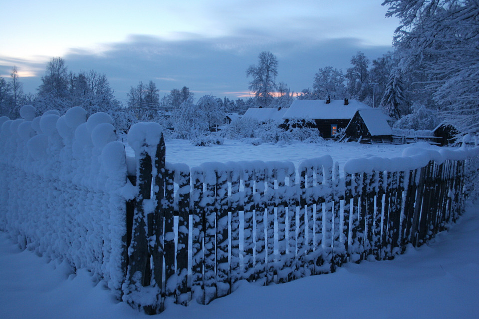 Here is my village | village, winter