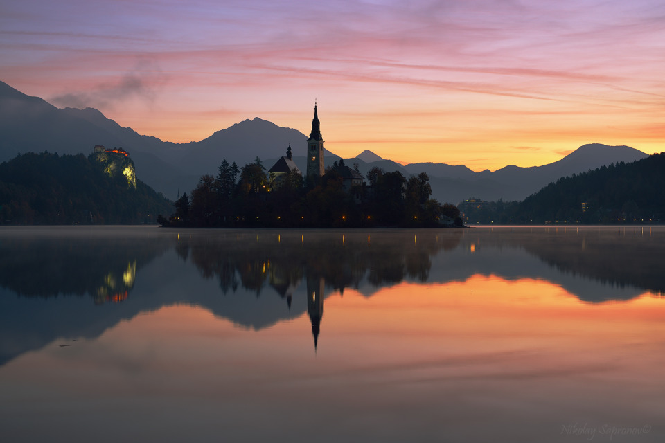 Awakening autumn Bled | autumn, Bled, sunrise